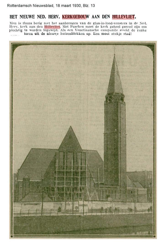 Maranathakerk in aanbouw